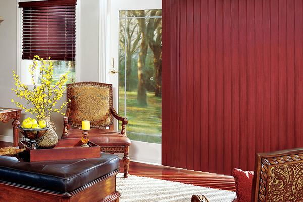 Crosswinds® wood vertical blinds